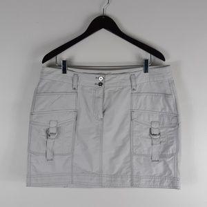 White House Black Market Grey Skirt Size 14